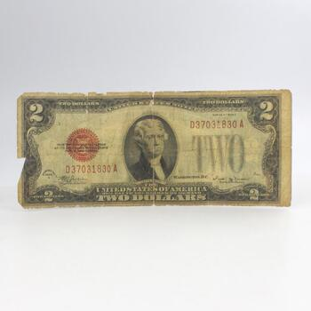 1928 E Two Dollar Bill Red Seal