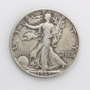 1943 Silver Walking Liberty Half Dollar