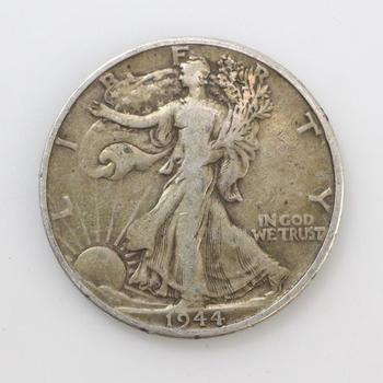 1944-D Silver Walking Liberty Half Dollar