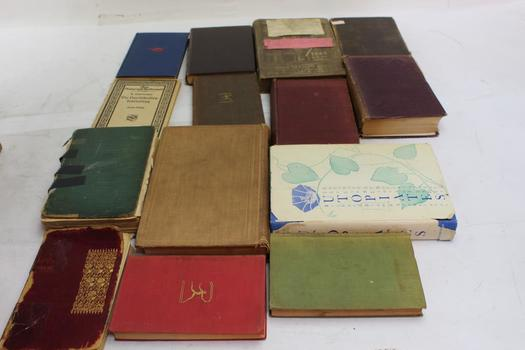 1945 Textbook Of An Industry, 1913 Anglo-saxon Grammar Book And More Collectibles, 15+ Pieces