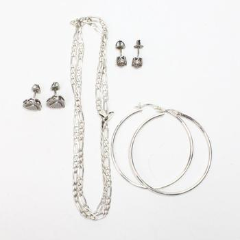 19.50g Silver Jewelry, 7 Pieces