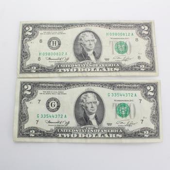 1976 $2 Bills, 2 Pieces