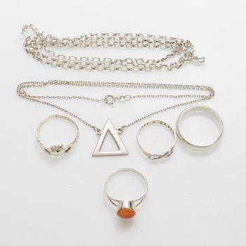 19.82g Silver Jewelry, 6 Pieces