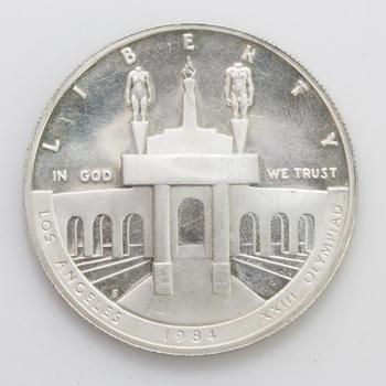 1984 Los Angeles Olympiad Silver Dollar Commemorative Coin
