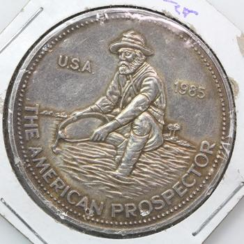 1985 Engelhard American Prospector 1 Troy Oz .999 Fine Silver
