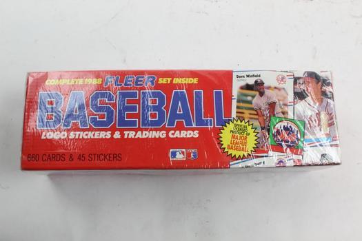 1988 Fleer Baseball Trading Cards Set Property Room
