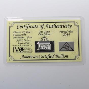 1g .999 Silver Bullion