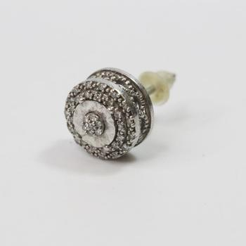 1g Silver Earring With Diamonds