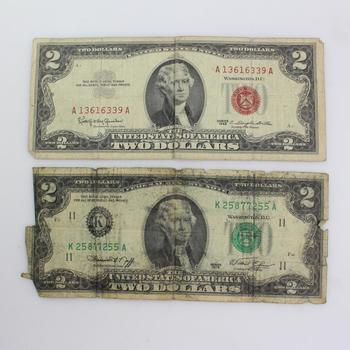 $2 Bills, Set Of 2