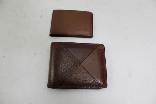 2 Coach Bi Fold Wallets
