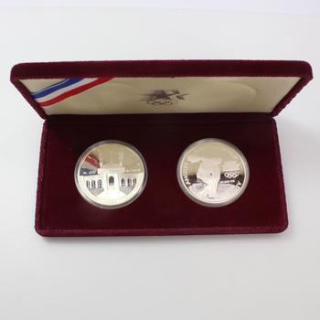 2 Silver 1984 LA Olympics Dollar Coins