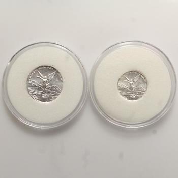 2000 Mexico 1/10 And 1/20 Onza .999 Silver Bullion