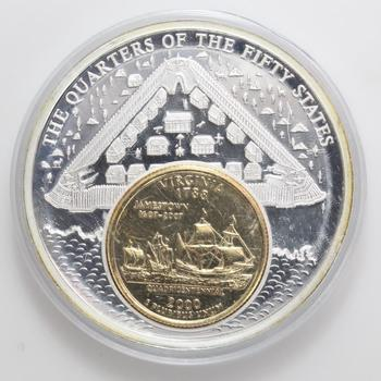 2000 The Quarter That Never Was Commemorative Inlay Coin