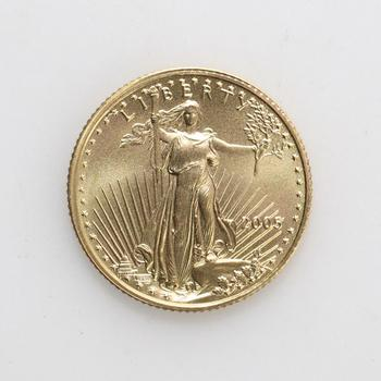 2005 Gold American Eagle $5 Coin