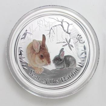 2011 Australia .999 Silver 2 Troy Oz Year Of The Rabbit Coin With COA