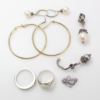 20.12g Silver Jewelry, 9 Pieces