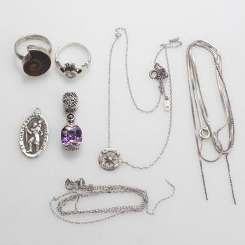 20.42g Silver Jewelry, 7 Pieces