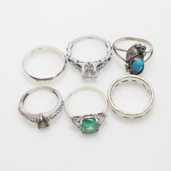 20.89g Silver Jewelry, 6 Pieces