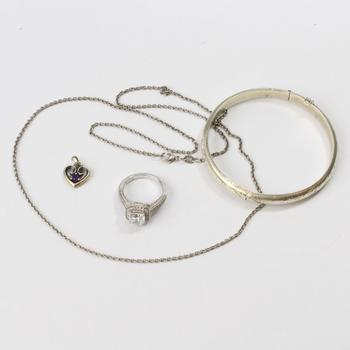 21.19g Silver Jewelry, 4 Pieces