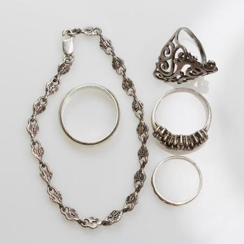 21.21g Silver Jewelry, 5 Pieces