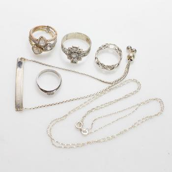 21.40g Silver Jewelry, 6 Pieces
