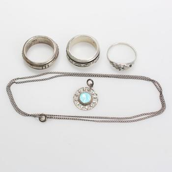 21.61g Silver Jewelry, 5 Pieces