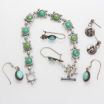 21.76g Silver Jewelry, 7 Pieces