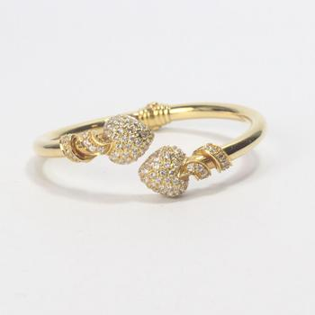 21k Gold 22.60g Bracelet With Clear Stones