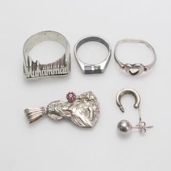 22.01g Silver Jewelry, 6 Pieces