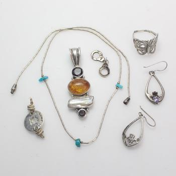 22.06g Silver Jewelry, 7 Pieces
