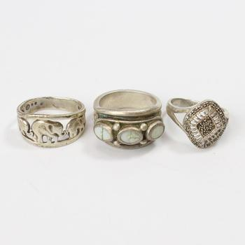22.31g Silver Jewelry, 3 Pieces