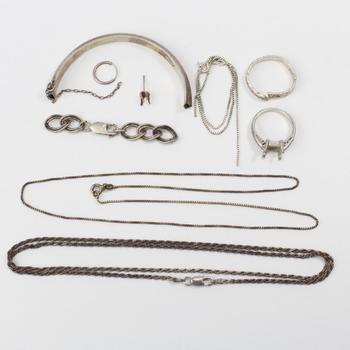 22.55g Silver Jewelry, 9 Pieces