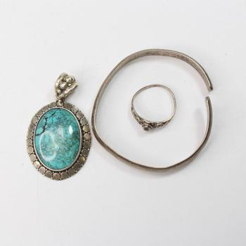 22.61g Silver Jewelry, 3 Pieces