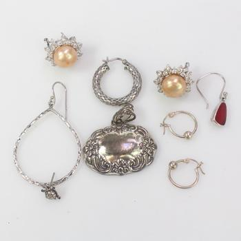 22.75g Silver Jewelry, 9 Pieces