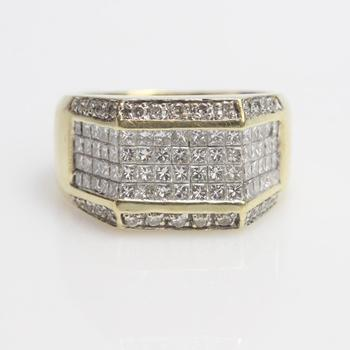 2.30ct TW Diamond 14k Gold Ring - Evaluated By Independent Specialist