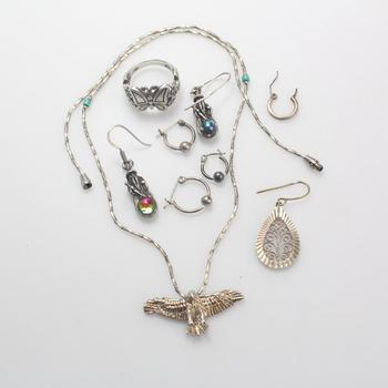 23.40g Silver Jewelry, 9 Pieces