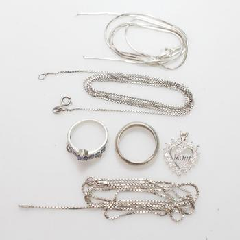 23.55g Silver Jewelry, 6 Pieces