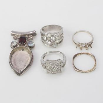 23.56g Silver Jewelry, 5 Pieces
