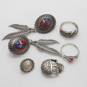 23.57g Silver Jewelry, 6 Pieces