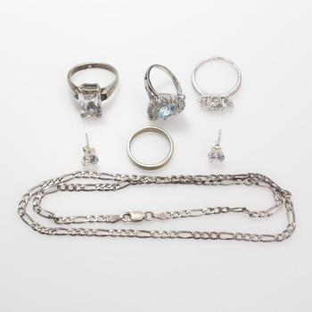 23.7g Silver Jewelry, 7 Pieces