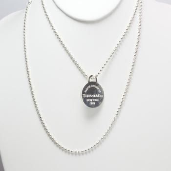23.88g Silver Tiffany & Co Necklace And Pendant