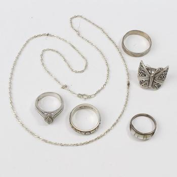 23g Silver Jewelry, 6 Pieces