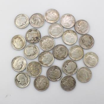 24 Silver US Dimes
