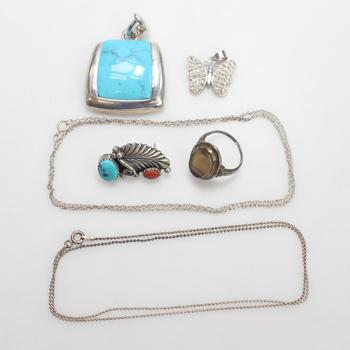 24.13g Silver Jewelry, 6 Pieces