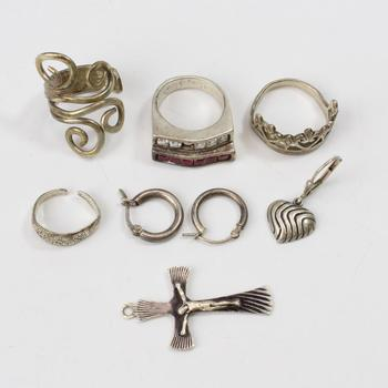 24.59g Silver Jewelry, 8 Pieces