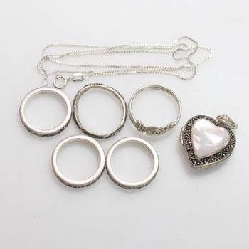 24.6g Silver Jewelry, 7 Pieces