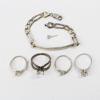 24.70g Silver Jewelry, 6 Pieces