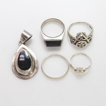 24.81g Silver Jewelry, 5 Pieces