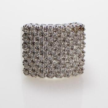 2.49ct TW Diamond 10k White Gold Ring - Evaluated By Independent Specialist