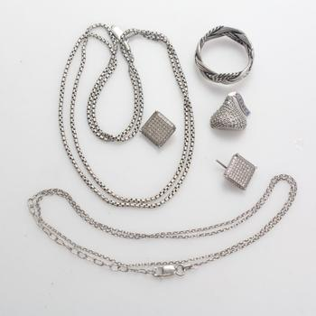 25.05g Silver Jewelry, 6 Pieces